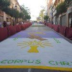 Alfombra de sal en solemne procesión del Corpus Christi de Archena